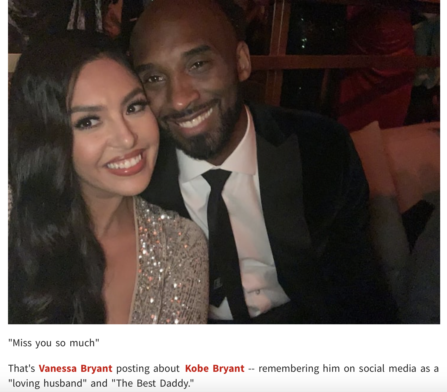 Vanessa Misses Kobe: My Best Friend